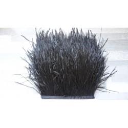 50cm Ruban de barbules d'autruche noir