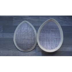 Base forme goutte bombée en sisal écru pour chapeau ou bibi