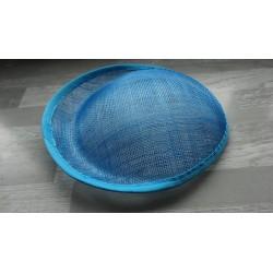 Base ovale bombée en sisal bleu turquoise pour chapeau/bibi diamètre 25 cm