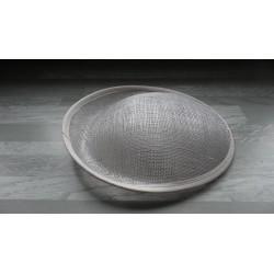 Base ovale bombée en sisal blanc pour chapeau/bibi diamètre 25 cm