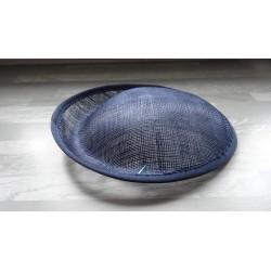 Base ovale bombée en sisal bleu marine pour chapeau/bibi diamètre 25 cm