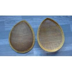 Base forme goutte bombée en sisal doré pour chapeau ou bibi