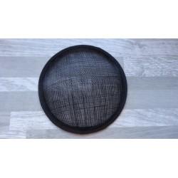 Base ronde bombée en sisal noir pour chapeau ou bibi