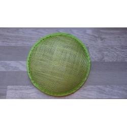 Base ronde bombée en sisal vert anis pour chapeau ou bibi