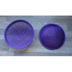 Base ronde bombée en sisal violet pour chapeau ou bibi