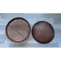 Base ronde bombée en sisal marron pour chapeau ou bibi