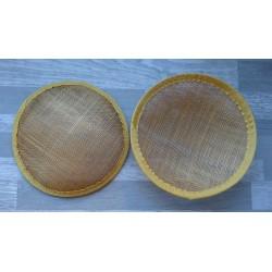 Base ronde bombée en sisal doré pour chapeau ou bibi