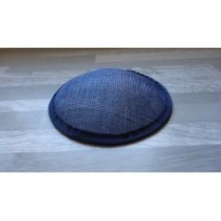 Base ronde bombée en sisal bleu marine pour chapeau ou bibi