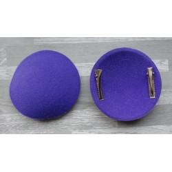 Support à pince rond bombé cartonné en feutrine violet