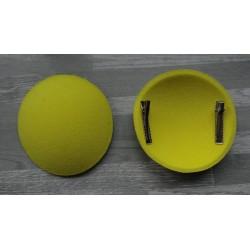 Support à pince rond bombé cartonné en feutrine jaune