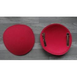 Support à pince rond bombé cartonné en feutrine rose fuchsia