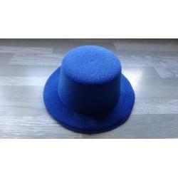 Mini chapeau style haut de forme de couleur bleu roi