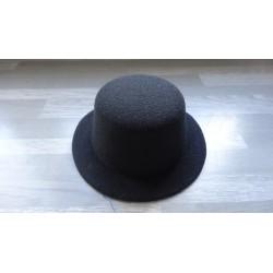 Mini chapeau style haut de forme de couleur noir (pinces non fournies)