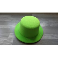 Mini chapeau style haut de forme de couleur vert pomme