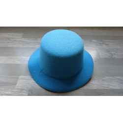 Mini chapeau style haut de forme de couleur bleu turquoise