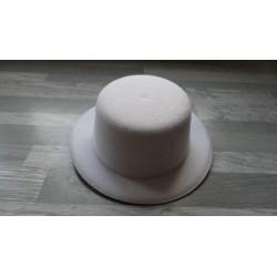 Mini chapeau style haut de forme de couleur blanc