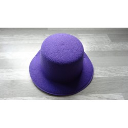 Mini chapeau style haut de forme de couleur violet