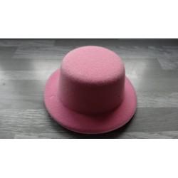 Mini chapeau style haut de forme de couleur rose clair