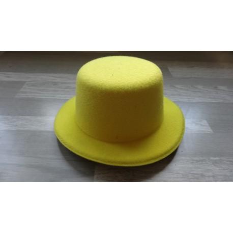 Mini chapeau style haut de forme de couleur jaune