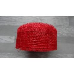 1m de Ruban de sisal rouge de 4cm de large