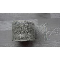 1m de Ruban de sisal gris de 5cm de large