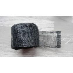 1m de Ruban de sisal noir de 5cm de large