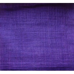 Coupon de tissu de sisal teinté violet de 50x90cm