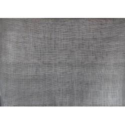 Coupon de tissu de sisal teinté gris de 50x90cm