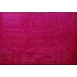 Coupon de tissu de sisal teinté fuchsia de 50x90cm