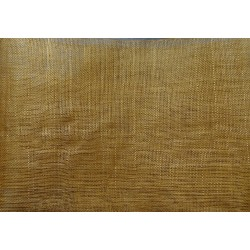 Coupon de tissu de sisal teinté ocre de 50x90cm