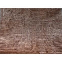 Coupon de tissu de sisal teinté marron de 50x90cm