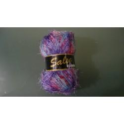 Pelote de laine SALSA 652 dégradé mauve/rose/bleu ciel