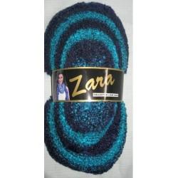Pelote de laine ZARA 607 noir et turquoise