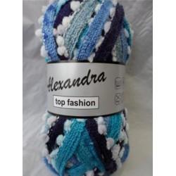 Pelote de laine alexandra 620 dégradé de bleu