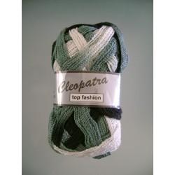 Pelote de laine cleopatra 606 noir/gris/blanc