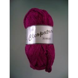Pelote de laine cleopatra GLAMOUR 020 fuschia/paillettes