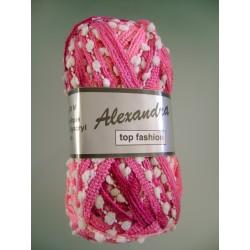 Pelote de laine alexandra 619 dégradé de rose