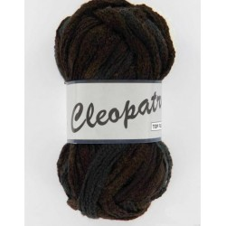 Pelote de laine cleopatra 001 noir/marron