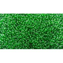 50g de Perles de rocaille 2.5mm de couleur vert cristal