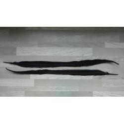 lot de 2 grandes Plumes de queue de faisan lady amherst teintées noir