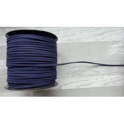 10m de suédine de 3mm de couleur bleu marine