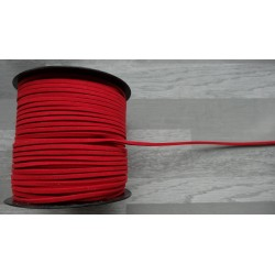 10m de suédine de 3mm de couleur rouge