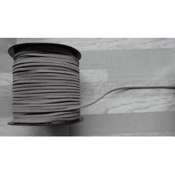 10m de suédine de 3mm de couleur gris foncé