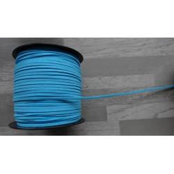 10m de suédine de 3mm de couleur turquoise