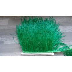 Ruban de barbules d'autruche vert foncé