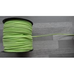 10m de suédine de 3mm de couleur vert anis
