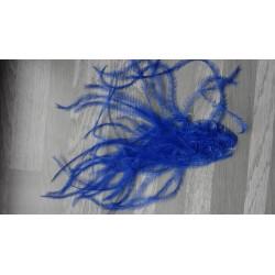 lot de 100 barbules d'autruche teintées bleu roi