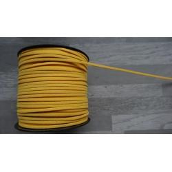 10m de suédine de 3mm de couleur jaune