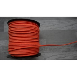10m de suédine de 3mm de couleur orange