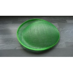 Base ovale bombée en sisal vert anis pour chapeau/bibi